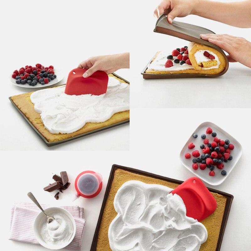 Estera antiadherente para hornear, almohadilla para Tartas, accesorios de cocina recipientes para hornear, herramientas de horno de silicona, tapete para Tartas, tapete para hornear, 1 ud.